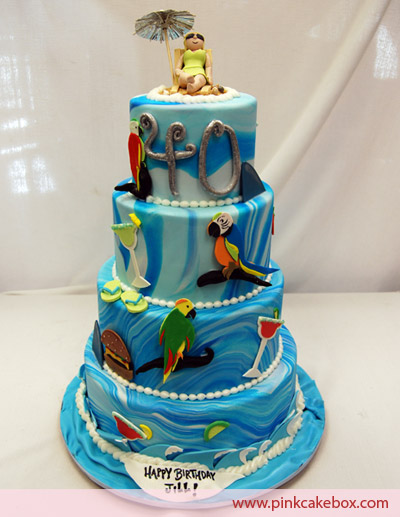 HD Animals parrot birthday cake