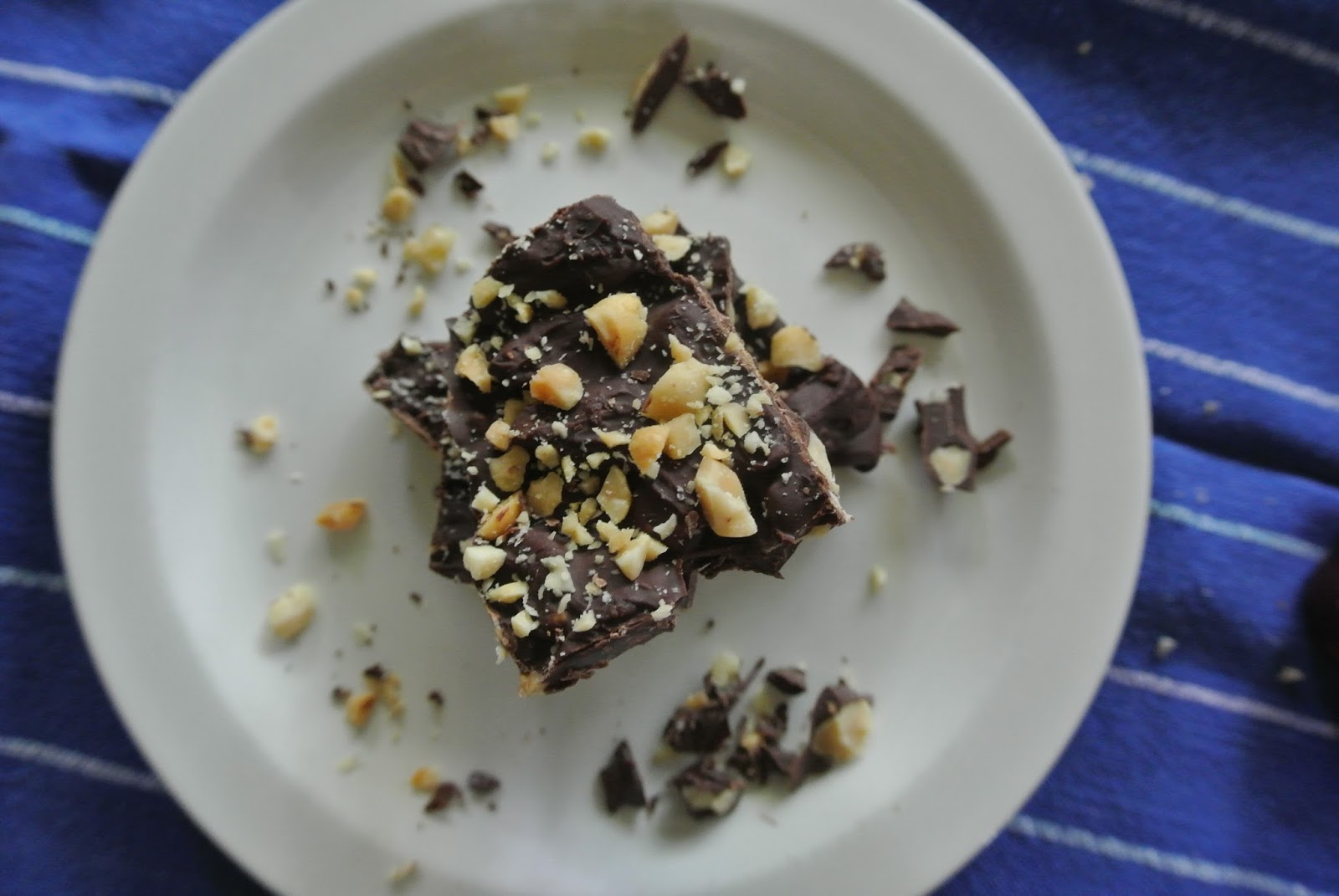 Chocolate Bark with Nuts and Dried Fruit - The Candid RD