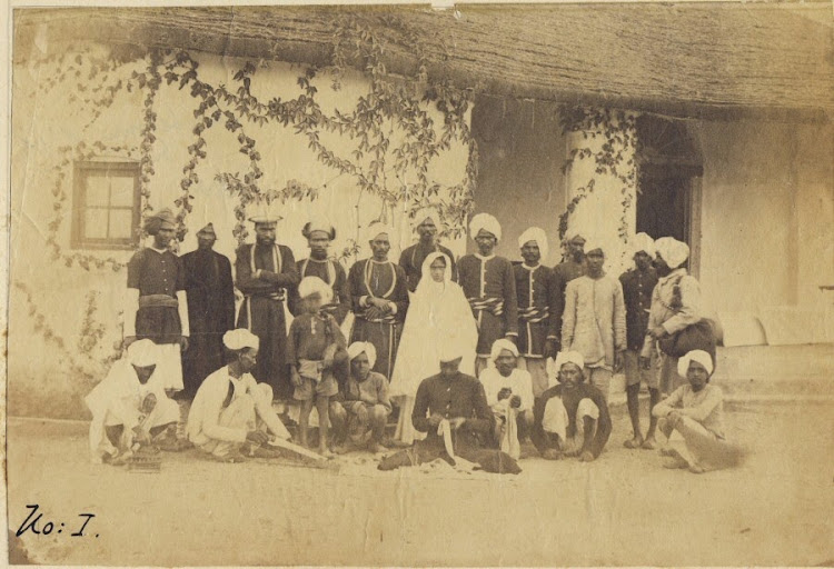 Group Photograph of a Household staff - India, c1890's