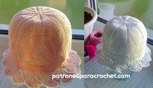sombrero tejido panama crochet
