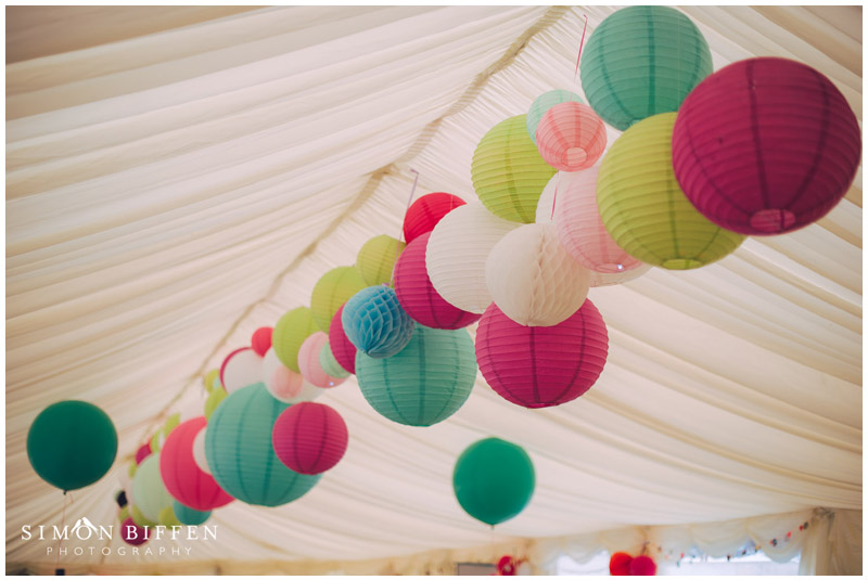 wedding coloured lanterns