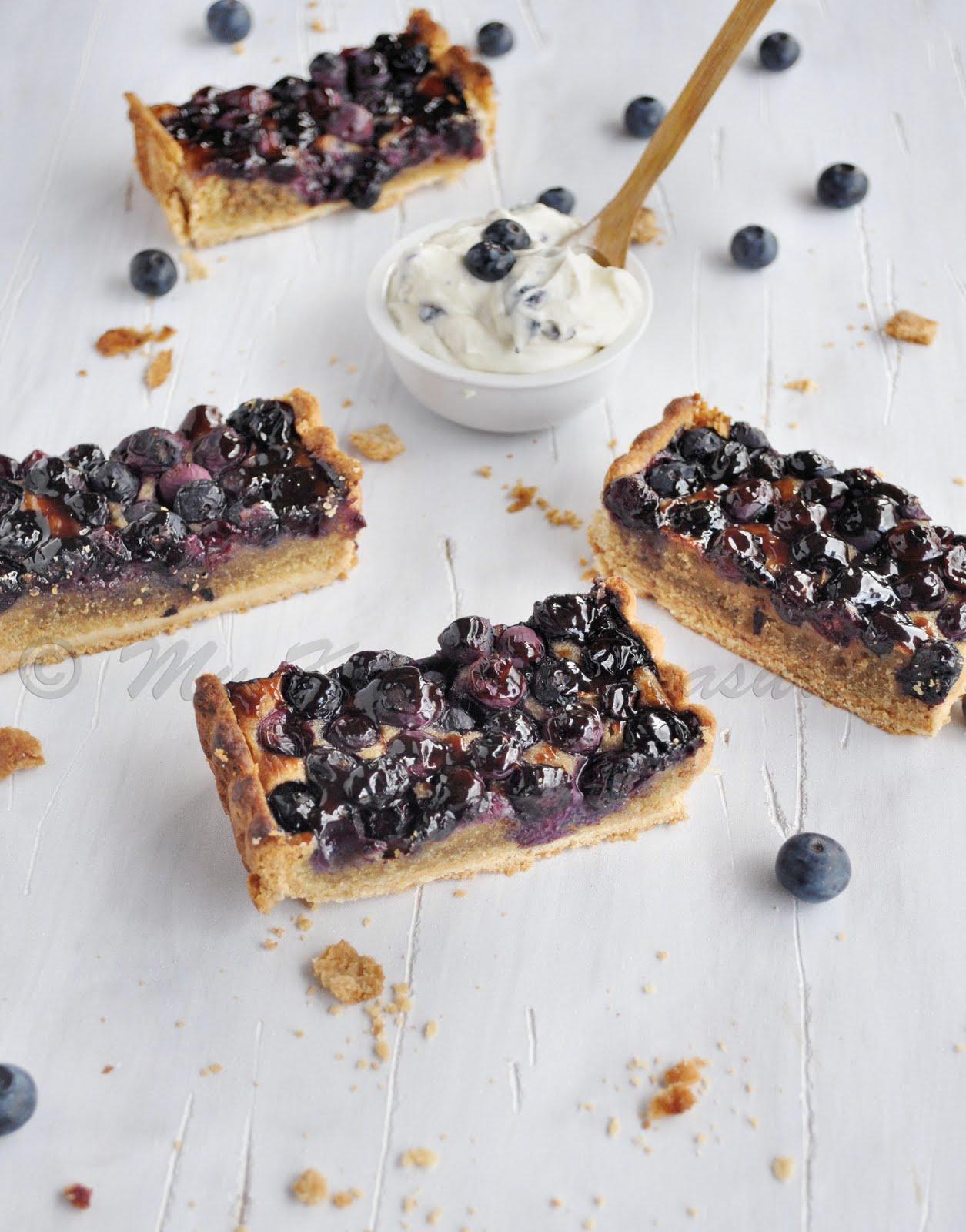 My Kitchen Treasures: Blueberry and Frangipane Tart
