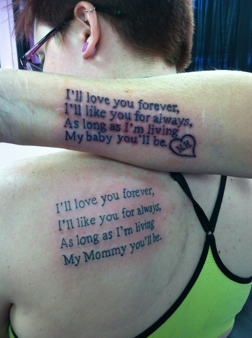Mother and Daughter Tattoo Quotes