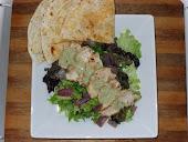 Chicken Fajita Salad with Poblano-Buttermilk Dressing