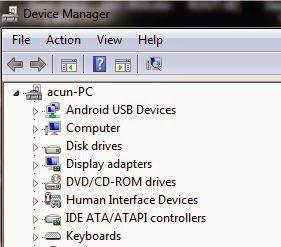 Hubungkan ke komputer dan lihat di Device Manager, pastikan sudah ...