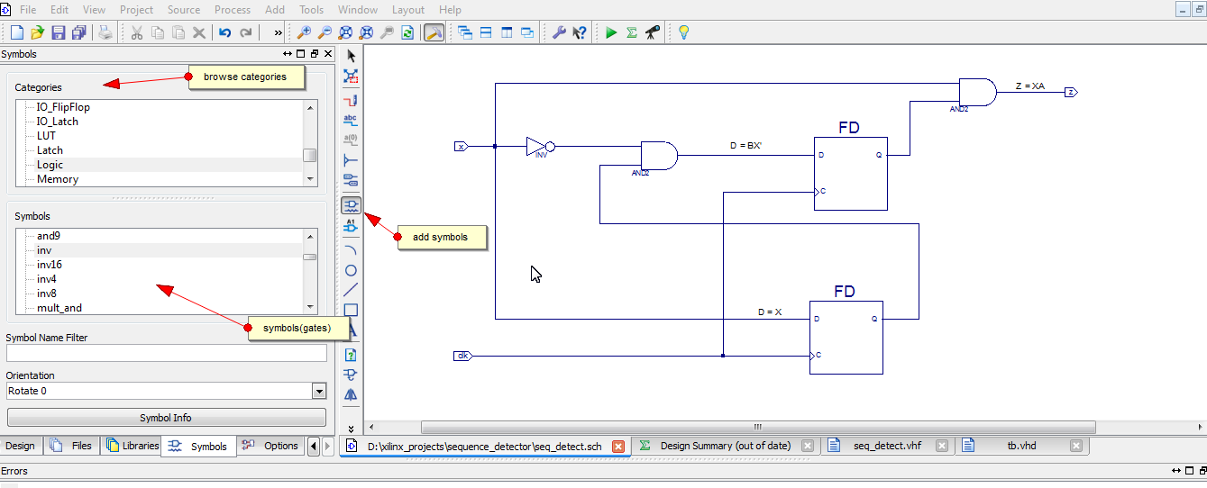 creating schematic in xilinx