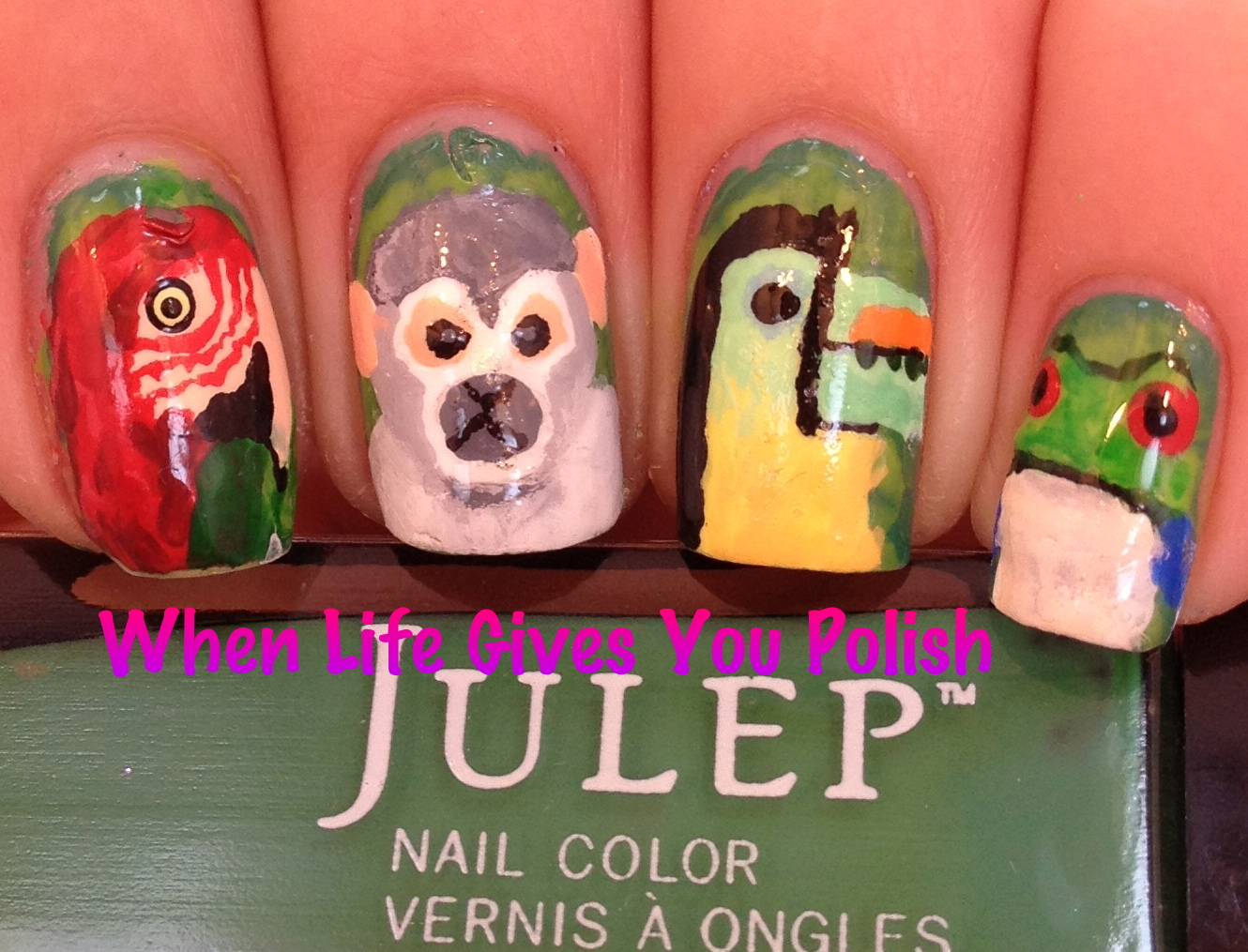 When Life Gives You Polish: Rainforest Nail Art: Tutorial Included