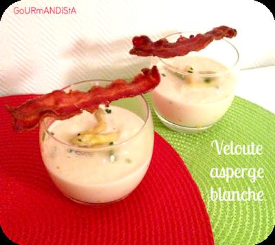 image Velouté d'asperges blanches et chips de bacon