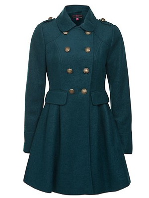 Turquoise New Look Coat