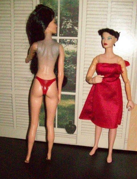 Jakks Pacific Alex on the left, Hasbro Miss Fear on the right