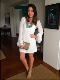 vestido branco tipo ciganinha