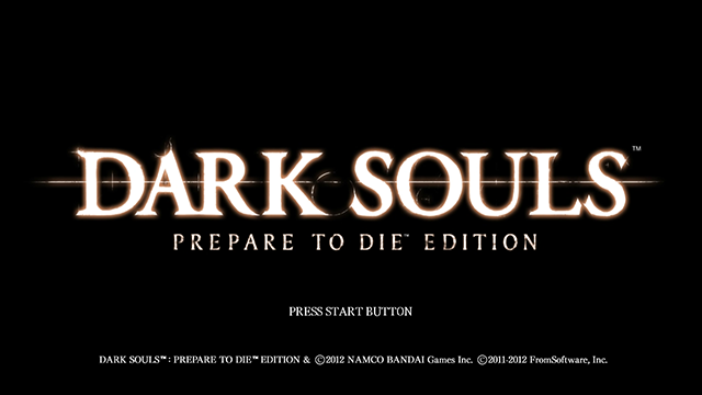 Dark Souls Prepare to Die Edition title screen PC