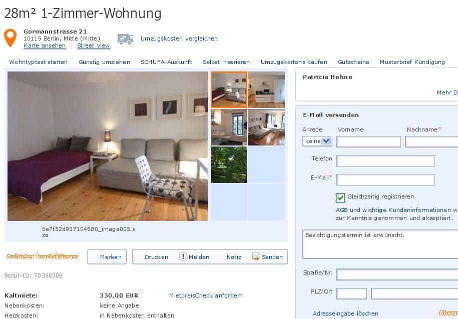 04 | Juli | 2013 | *Gegen Wohnungsbetrug *against rental scammers*