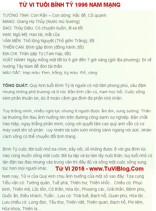 Tu Vi Tuoi Binh Ty Nam Mang