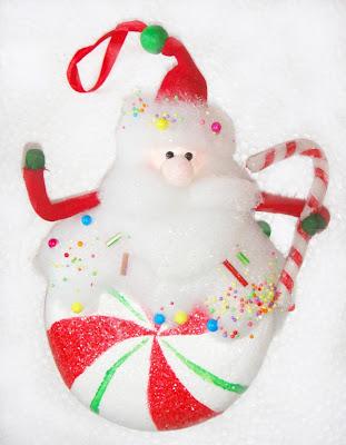 Un dulce navideño adornado
