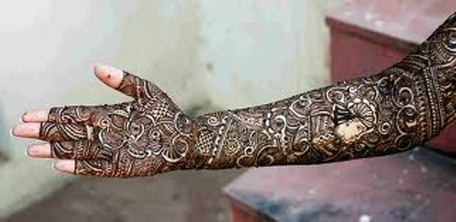 Full Arm Mehndi : Full arm mehndi designs