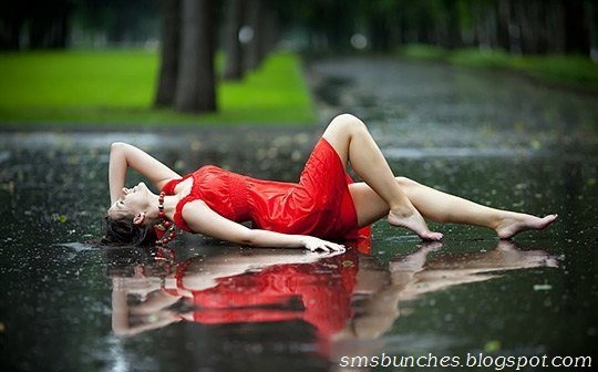 Rain Love Romantic SMS