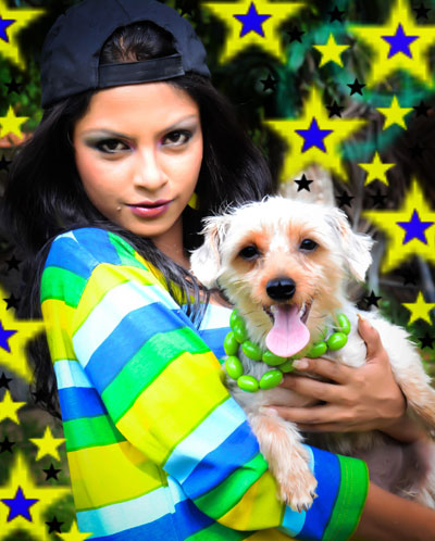 Shalani Tharaka With Dog
