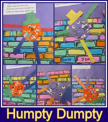 photo of: Nursery Rhyme Projects in Preschool: Humpty Dumpty Bulletin Board