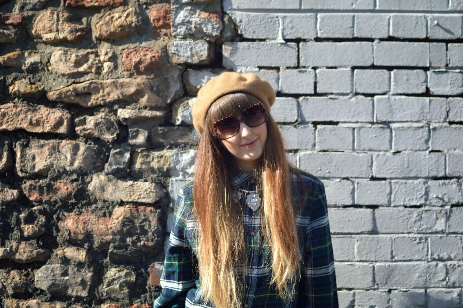 H&M plaid shirt asos sunglasses