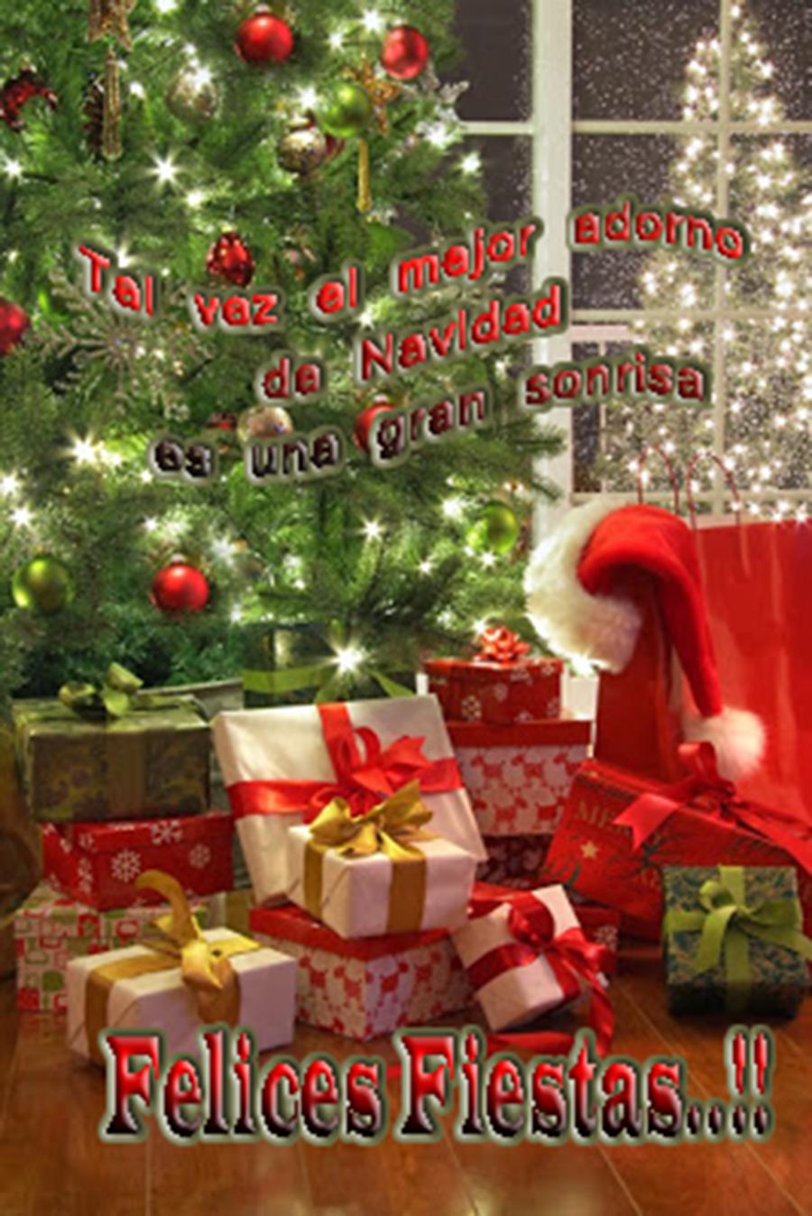 Banco de im genes 60 postales navide as con mensajes para - Felicitaciones de navidad 2018 ...