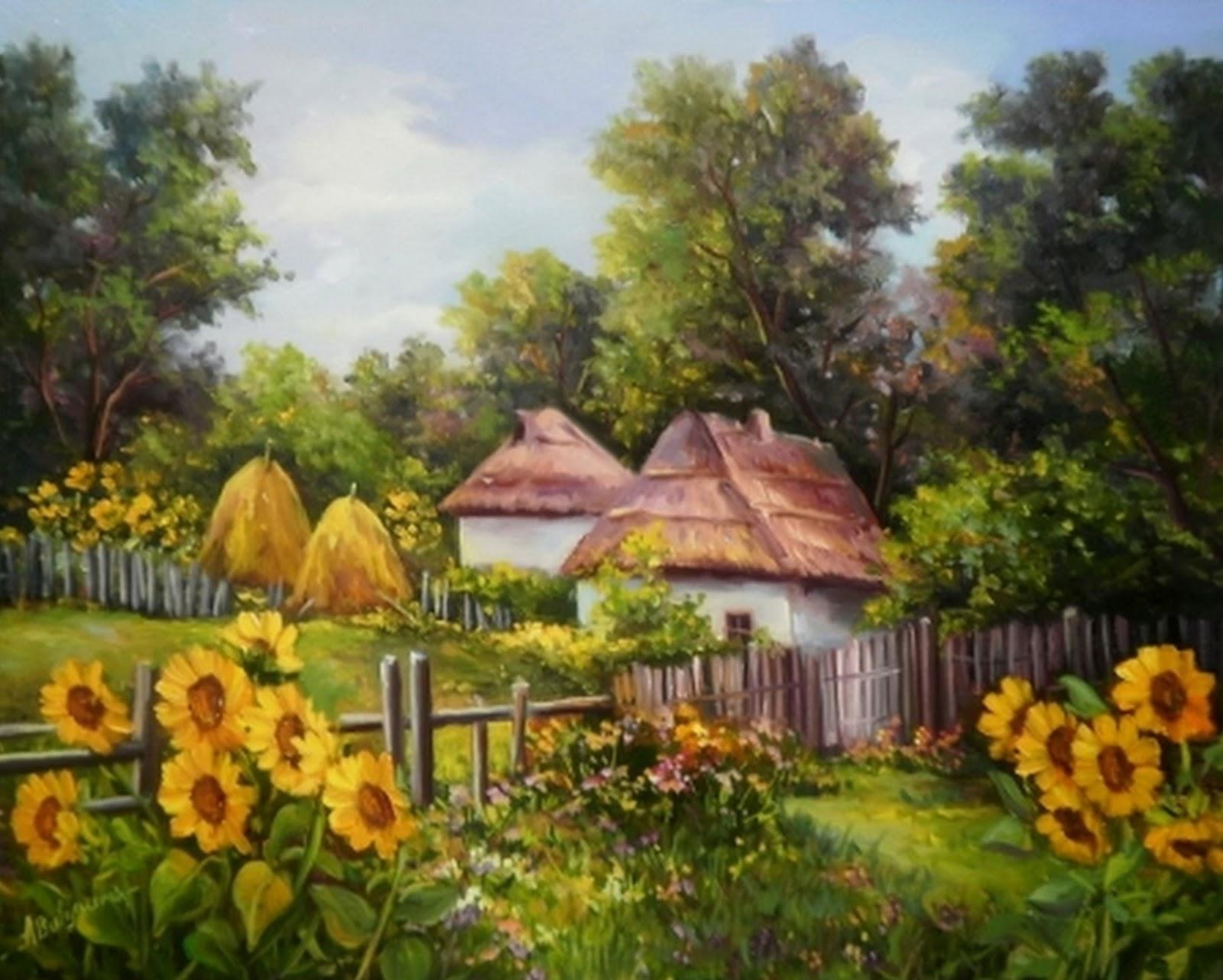 Pinturas cuadros lienzos paisajes costumbristas pintados for Cuadros pintados al oleo