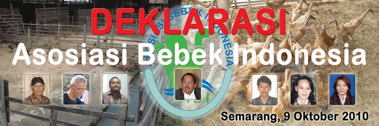DEKLARASI ASOSIASI AGRIBISNIS BEBEK INDONESIA