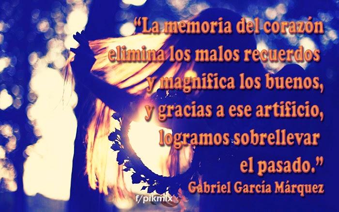 La memoria: Gabriel García Márquez - Frases