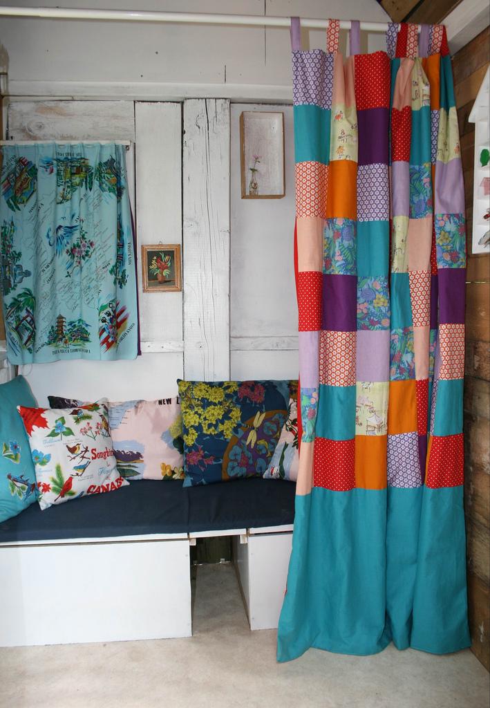 Dalleno artes cortinas e ideia diferentes for Cortinas vintage