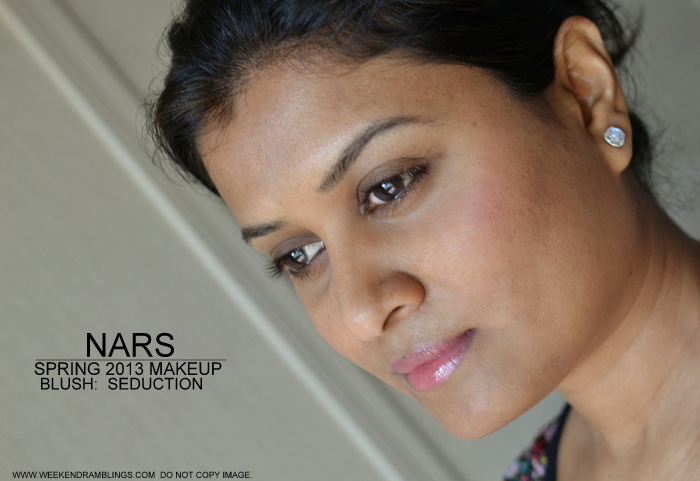 NARS Spring 2013 Makeup Blush Sangria Seduction Indian Beauty Blog Darker Skin Swatches Reviews FOTD Looks Ingredients