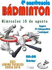 4ª CONVIVENCIA DE BÁDMINTON