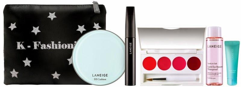 Laneige Glitzy BB Cushion Pore Control Set, Gift Set, Laneige 2014 Holiday Collection, Laneige, Holiday Set, Christmas Set, Skincare, Makeup, Beauty
