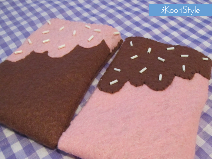 Koori KooriStyle Kawaii Cute Tutorial Freebie Cookie Case Felt SIY HowTo Pattern PDF