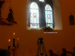 wedding flowers at monaleen church limerick and adare manor