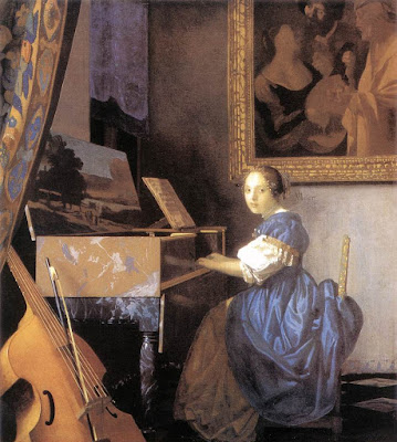 Jan Johannes Vermeer Lady Seated Virginal