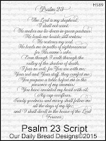 Our Daily Bread designs Psalm 23 Script