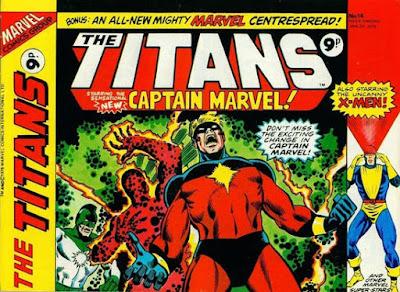 Marvel UK, the Titans #14, Captain Marvel