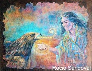 Painting by Rocio Sandoval