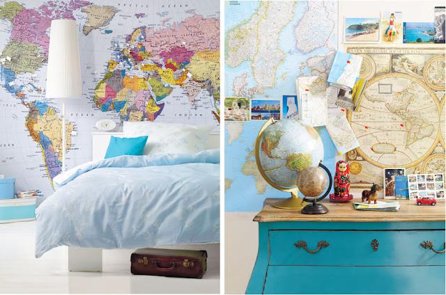 Decorar la casa con mapas ideas para decorar dise ar y for Ideas para disenar tu casa