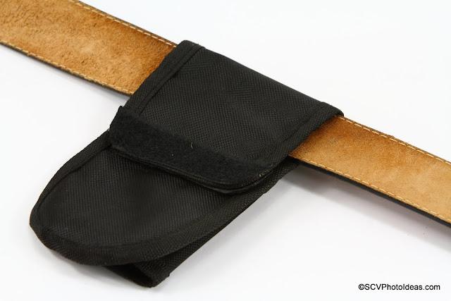 Triopo Monopod Holster rear flap straight on belt