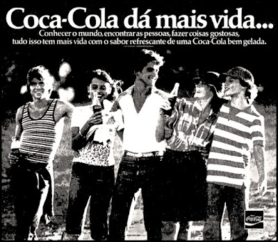 propaganda Coca Cola - 1977; Coca Cola; refrigerante coca cola; década de 70. os anos 70; propaganda na década de 70; Brazil in the 70s, história anos 70; Oswaldo Hernandez;