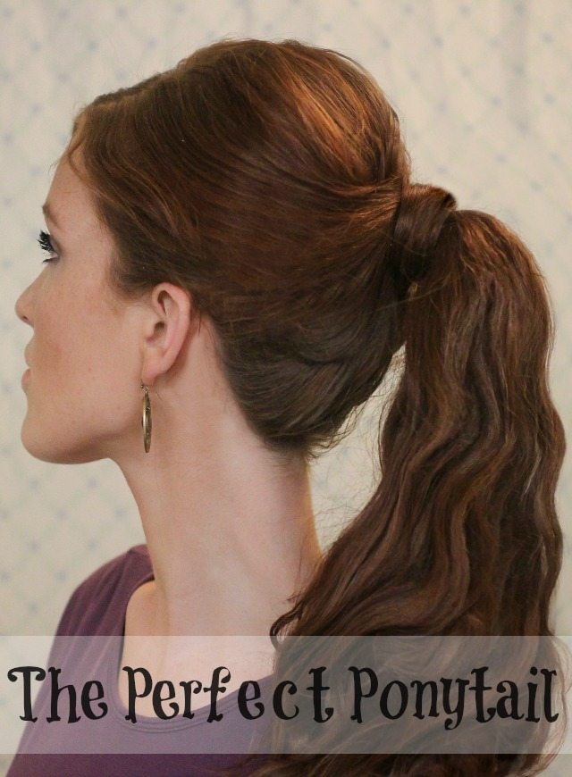how to make a puff ponytail without hairspray