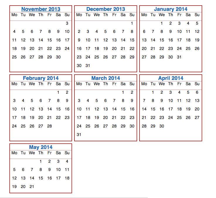 от даты до даты: