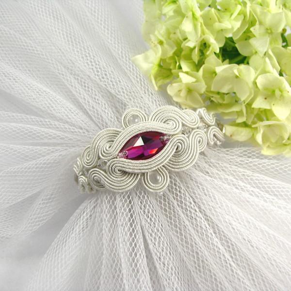 sutaszowa bransoletka ślubna