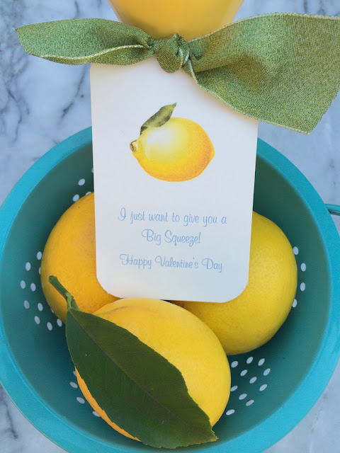 Lemon Citrus Valentine's Day Gifts | Easy and Pretty DIY with printable tags, I love giving healthy food as Valentines | www.jacolynmurphy.com
