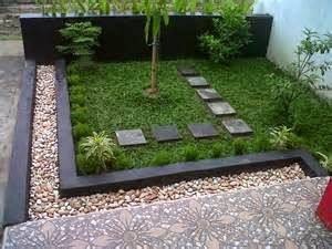 Contoh cara Membuat Taman Untuk Rumah Minimalis Kecil Mungil Sederhana Type 36