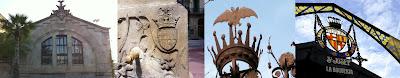 Barcelona escudos murcielago ratpenat