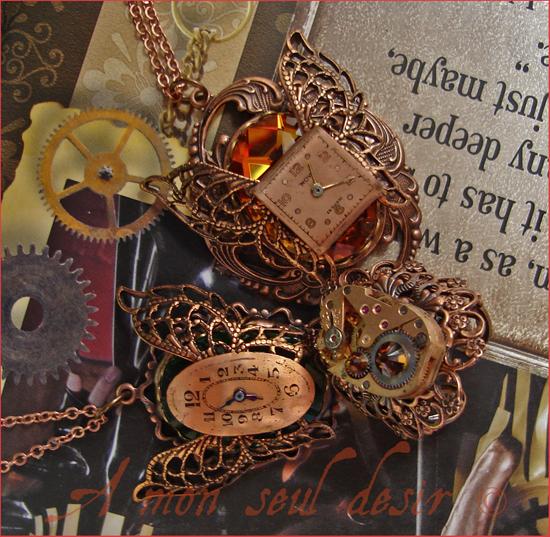 Bijoux Steampunk Cuivre Copper Jewellery