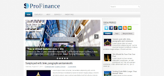 ProFinance Blogger Template Is a Finance Related Wordpress To Blogger Converted Blogger Template