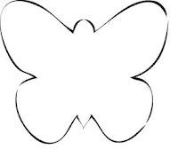 Marcador de lugar borboleta